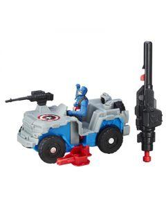 Avengers Captein America og Blast-Action 4x4 kjøretøy 6cm