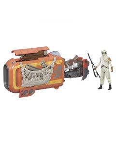 Star Wars E7 Rey`s Speeder (Jakku) & Rey (Jakku) - 9.5cm