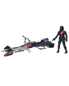 Star Wars E7 Elite Speeder bike kjøretøy 9.5cm og Stormtrooper figur