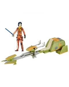 Star Wars E7 Ezra Bridgers Speeder kjøretøy 9.5cm og Ezra Bridger figur