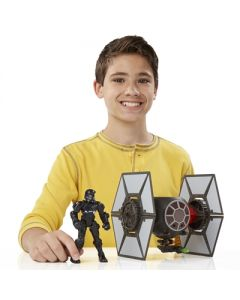 Star Wars Hero Masher The Force Awakens Attack Vehicle - First Order Special Forces Tie Fighter & First Order Tie Fighter Pilot