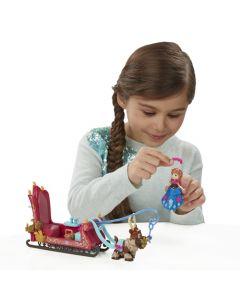 Disney Frozen liten dukke lekesett - Anne og Svens slede