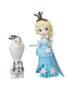 Disney Frozen and Friends liten dukke - Elsa og Olaf