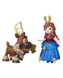 Disney Frozen and Friends liten dukke - Anna og Sven