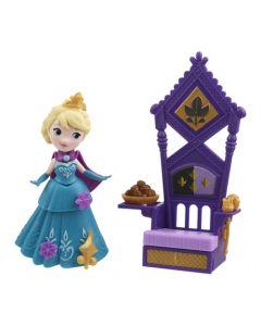 Disney Frozen liten dukke med tilbehør - Elsa & Throne