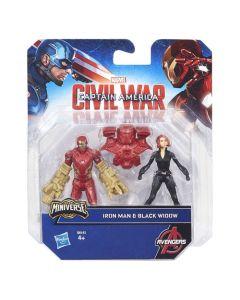 Avengers figursett 6cm - Iron Man & Black Widow