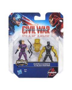 Avengers figursett 6cm - Marvel's Hawkeye Vs. Black Panther