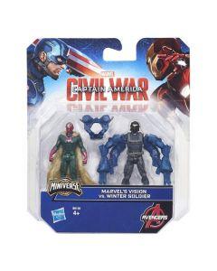 Avengers figursett 6cm - Marvel's Vision Vs. Winter Soldier