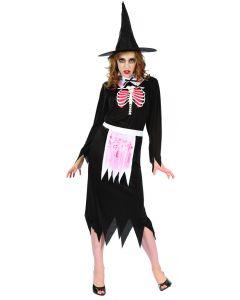 Hekseskjelett-kostyme - one size