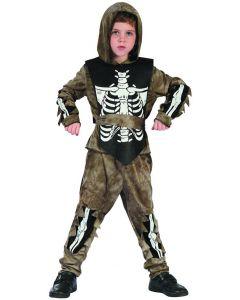 Zombieskjelett-kostyme - 110-120 cm