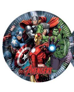 Avengers power tallerken 23 cm - 8 stk