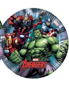 Avengers power tallerken 20 cm - 8 stk