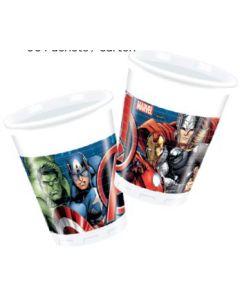 Avengers power plastkrus 2 dl - 8 stk