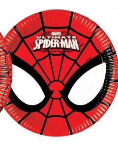SPIDER-MAN power tallerken 20 cm - 8 stk