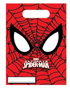 SPIDER-MAN power godteposer - 6 stk