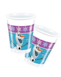 Disney Frozen plastkrus 2 dl - 8 stk