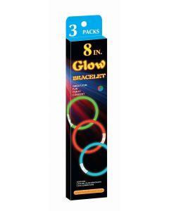 Glow in the dark flerfarget armbånd 20cm