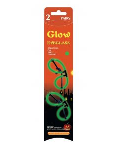 Glow in the dark halloween briller, 2 par - grønn