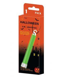 Glow in the dark halloween lysstav 1stk. - grønn