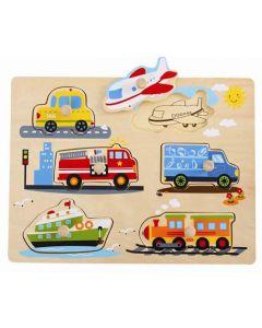 Knottepuslespill i tre - kjøretøy og fly