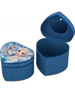 Disney Frozen hjerteformet smykkeskrin - blå