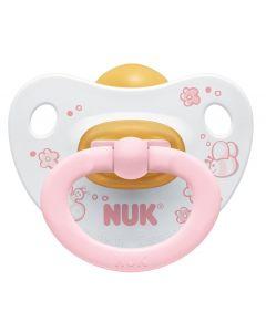 NUK Baby Rose latekssmokk 0-6 mnd - 2 stk