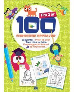 Aktivitetsbok 100 morsomme oppgaver fra 3 år
