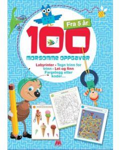 Aktivitetsbok 100 morsomme oppgaver fra 5 år
