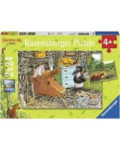 Ravensburger puslespill Mamma Mø - 2x24