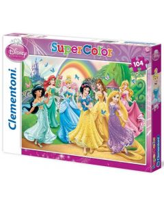 Clementoni Supercolor puslespill Disney Butterfly Princess - 104 biter