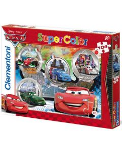 Clementoni Supercolor puslespill Disney Cars - 104 biter