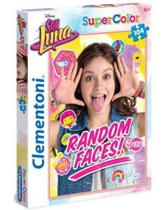 Clementoni Supercolor puslespill Disney Soy Luna random faces - 104 biter