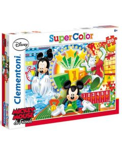 Clementoni Supercolor puslespill Mickey Mouse and friends - 250 biter