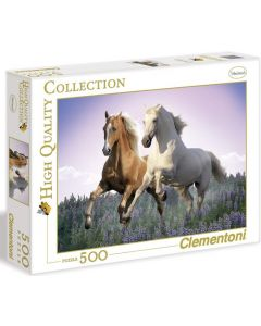 Clementoni high quality collection Free horses - 500 biter