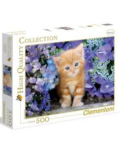 Clementoni high quality collection Ginger cat in flowers - 500 biter