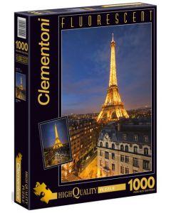 Clementoni fluorescent puslespill Paris - 1000 biter