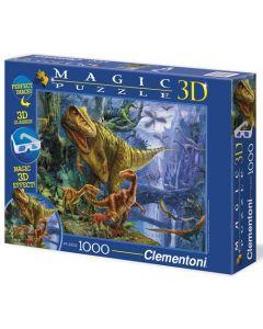 Clementoni magic 3D puslespill dinosaur - 1000 biter