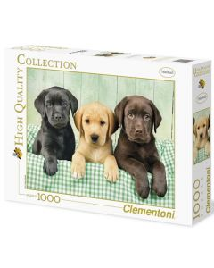 Clementoni high quality collection Tre labrador-valper - 1000 biter