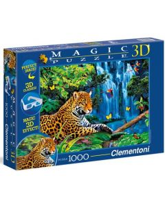 Clementoni magic 3D puslespill jaguar jungle - 1000 biter