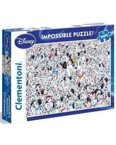 Clementoni Disney 101 Dalmatinere impossible puslespill - 1000 biter