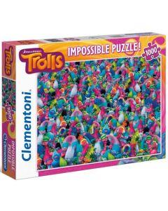 Clementoni Trolls impossible puslespill - 1000 biter