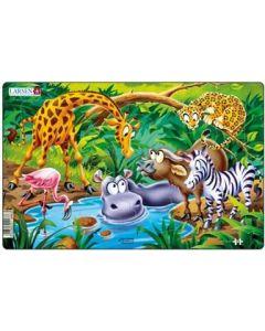 Platepuslespill Midi safari (sjiraff) - 11 brikker