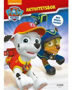 Paw Patrol aktivitetsbok med klistremerker