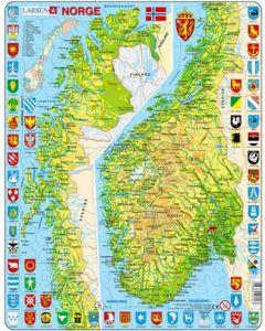 Platepuslespill Maxi Norgeskart