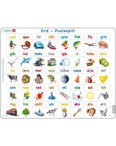 Platepuslespill Maxi norske ord