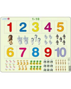 Platepusle Maxi 1-10 tall og figurer