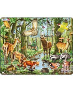 Platepuslespill Maxi nordisk skog med dyr 2