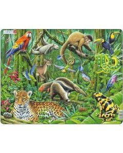 Platepuslespill MAXI Regnskog med dyr