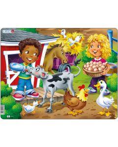 Platepuslespill Maxi barn på gården - 18 brikker