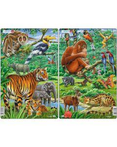 Platepuslespill Midi asiatisk jungel (gorilla) - 11 brikker